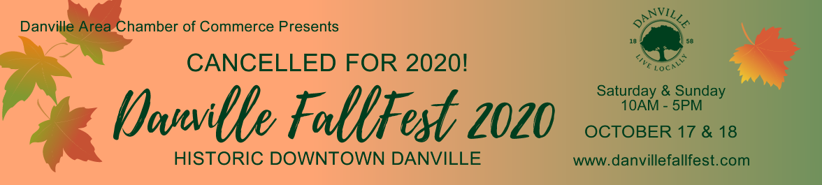 Danville CA Fallfest Cancelled for 2020 - click for home.